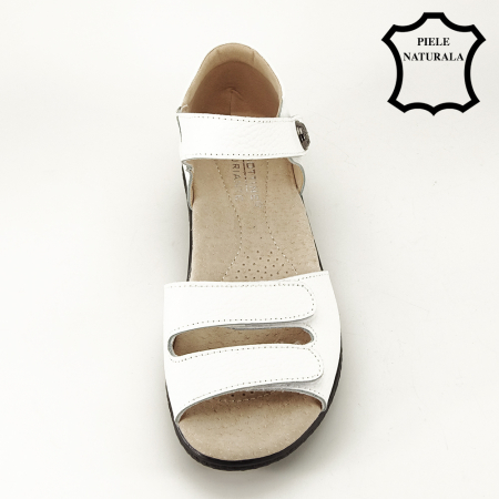 Sandale albe din piele naturala Agata [2]