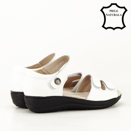 Sandale albe din piele naturala Agata [6]