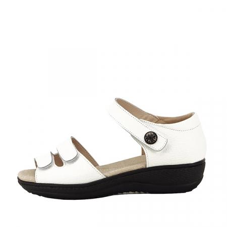 Sandale albe din piele naturala Agata [0]