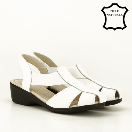 Sandale albe din piele naturala Codruta [4]