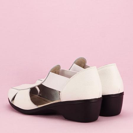 Sandale albe din piele naturala Calypso [3]