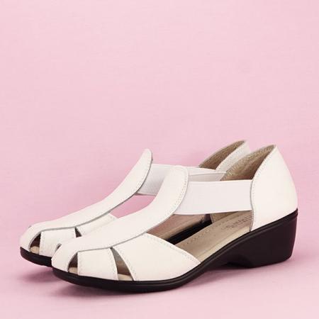 Sandale albe din piele naturala Calypso [1]