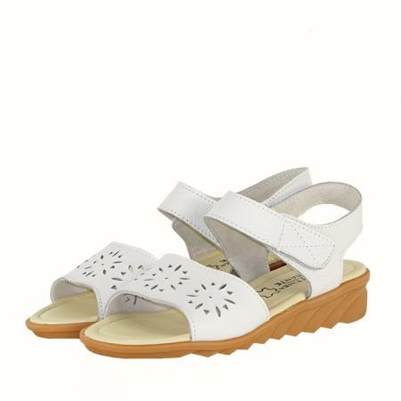 Sandale albe din piele naturala Catis0