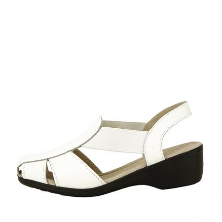 Sandale albe din piele naturala Codruta [0]
