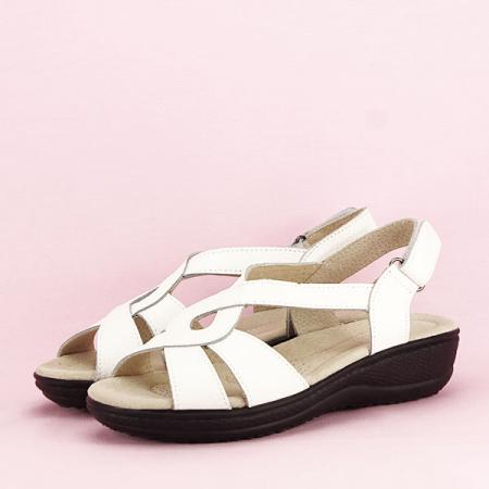 Sandale albe din piele naturala Mabel [1]