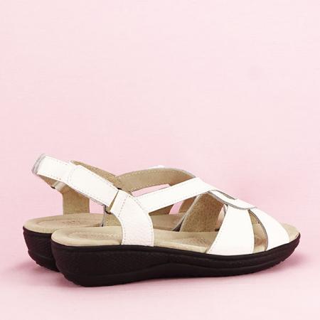 Sandale albe din piele naturala Mabel [4]