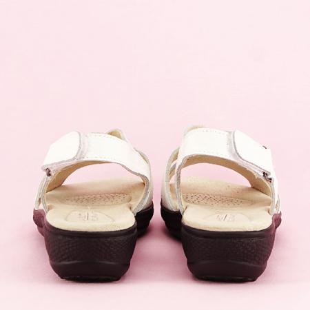 Sandale albe din piele naturala Mabel [5]