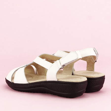 Sandale albe din piele naturala Mabel [3]