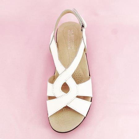 Sandale albe din piele naturala Mabel [6]