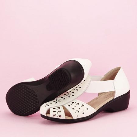 Sandale albe din piele naturala Ozana [6]