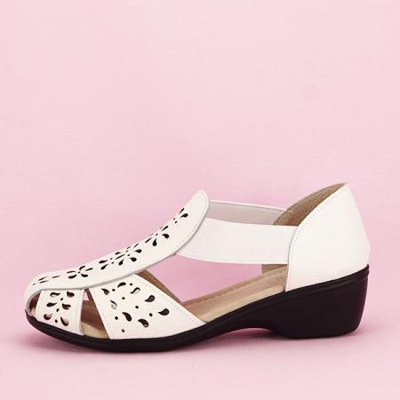 Sandale albe din piele naturala Ozana [7]