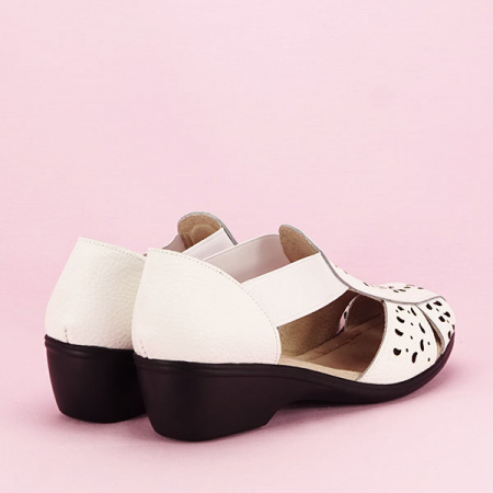Sandale albe din piele naturala Ozana [4]
