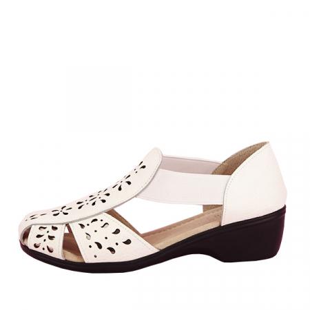 Sandale albe din piele naturala Ozana [0]