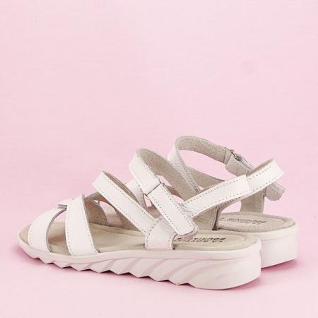 Sandale albe din piele naturala Suzana [3]