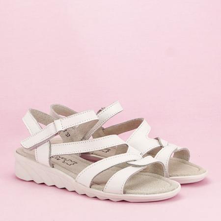 Sandale albe din piele naturala Suzana [2]