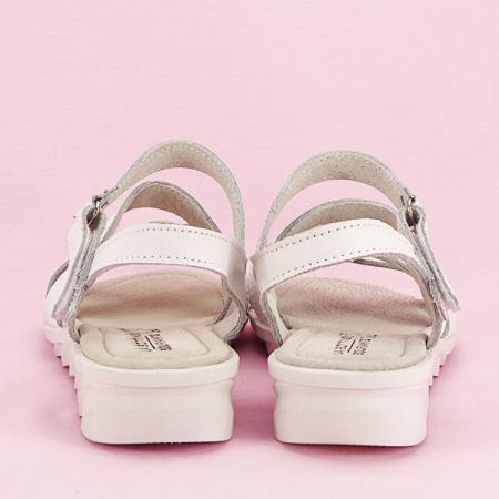 Sandale albe din piele naturala Suzana [5]