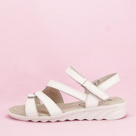 Sandale albe din piele naturala Suzana [0]