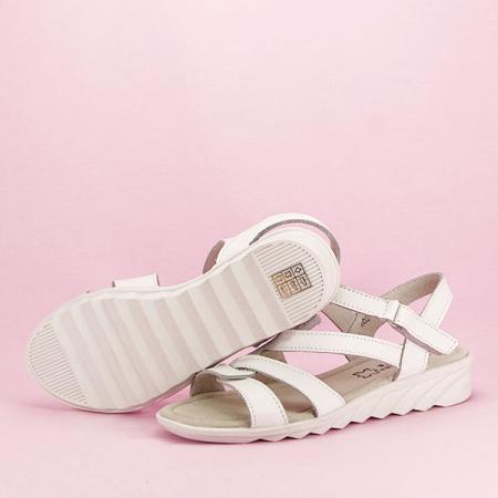 Sandale albe din piele naturala Suzana [7]