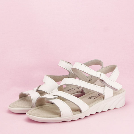 Sandale albe din piele naturala Suzana [1]