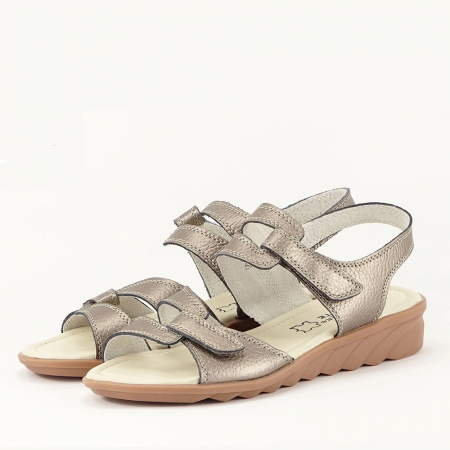 Sandale argint invechit din piele naturala Iasmina0