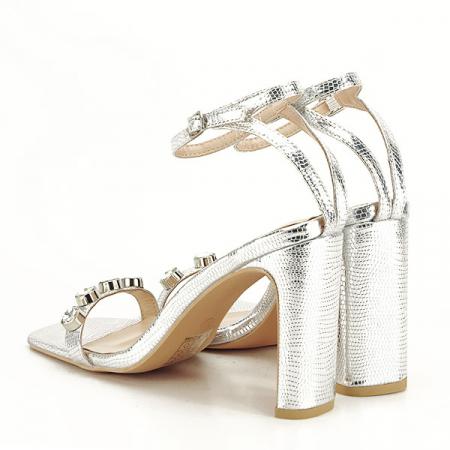 Sandale argintii cu imprimeu Lola [5]