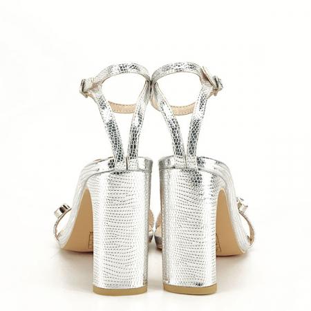 Sandale argintii cu imprimeu Lola [6]