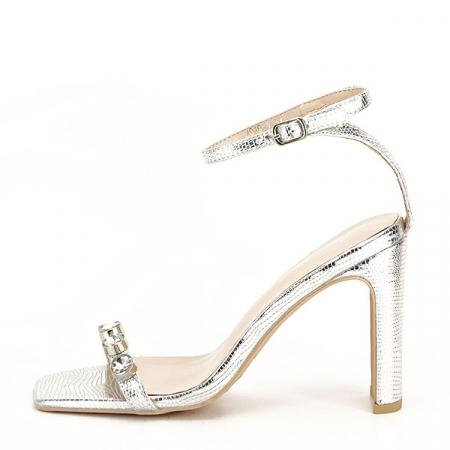 Sandale argintii cu imprimeu Lola [1]