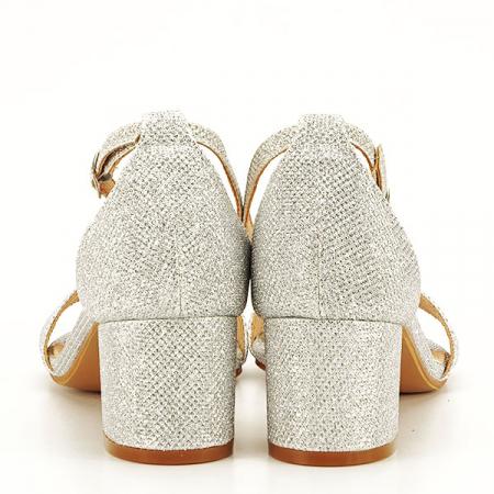 Sandale argintii cu sclipici Miria [6]