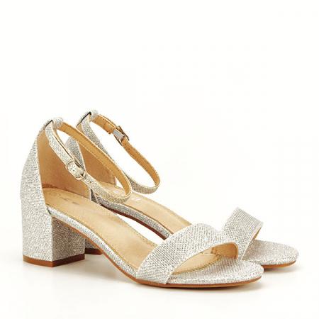 Sandale argintii cu sclipici Miria [3]