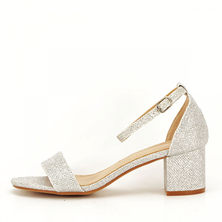 Sandale argintii cu sclipici Miria [0]