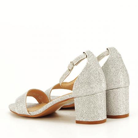 Sandale argintii cu sclipici Miria [4]
