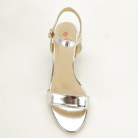 Sandale argintii cu toc Mira [1]