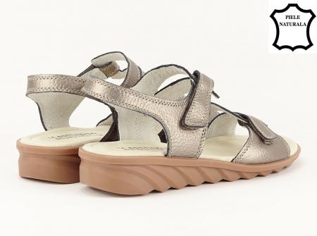 Sandale argint invechit din piele naturala Iasmina5