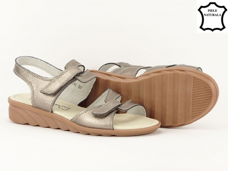 Sandale argint invechit din piele naturala Iasmina2