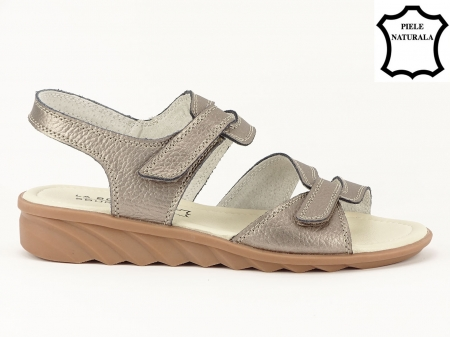 Sandale argint invechit din piele naturala Iasmina1