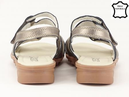 Sandale argint invechit din piele naturala Iasmina4