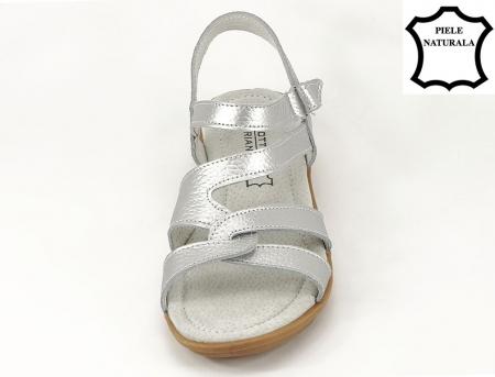 Sandale argintii din piele naturala Suzana6
