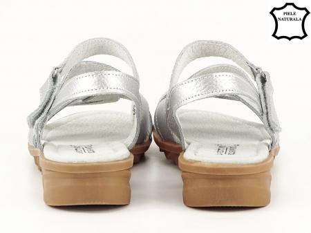 Sandale argintii din piele naturala Suzana4