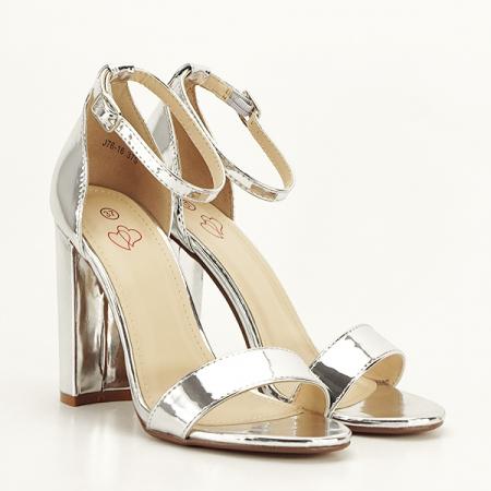 Sandale argintii elegante Elisabeta [3]