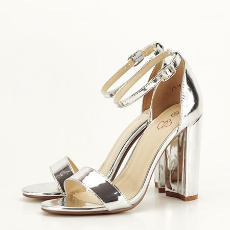 Sandale argintii elegante Elisabeta [2]