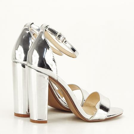 Sandale argintii elegante Elisabeta [5]