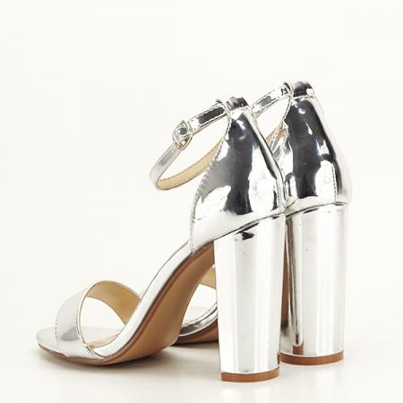 Sandale argintii elegante Elisabeta [4]