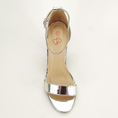 Sandale argintii elegante Elisabeta [1]