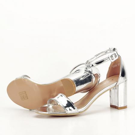 Sandale argintii lacuite Sofia [7]