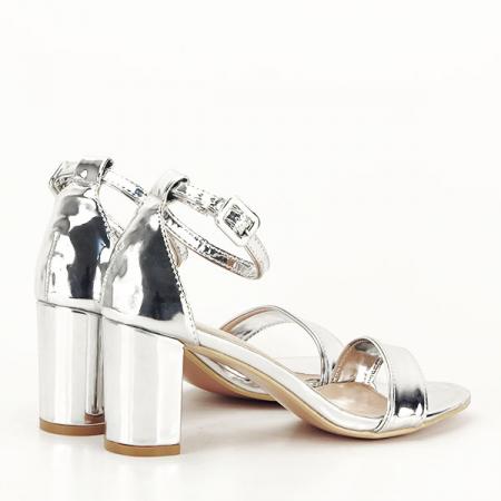 Sandale argintii lacuite Sofia [5]