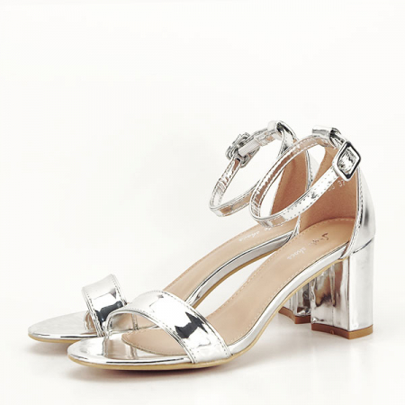 Sandale argintii lacuite Sofia [1]