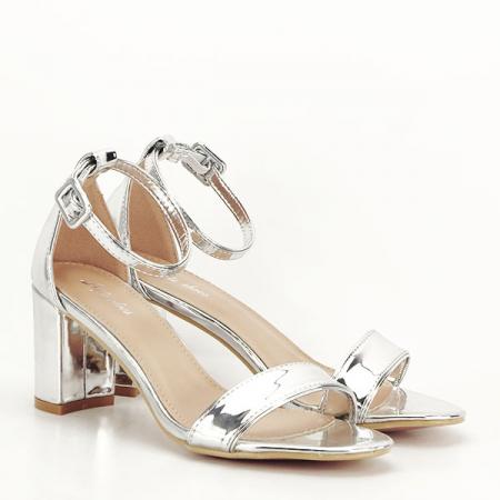 Sandale argintii lacuite Sofia [3]