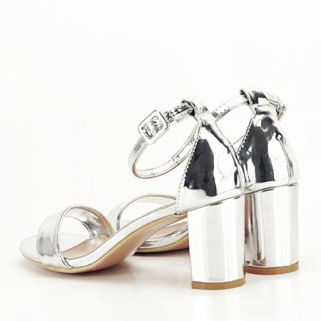 Sandale argintii lacuite Sofia [4]