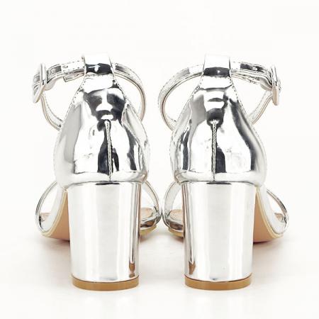 Sandale argintii lacuite Sofia [6]
