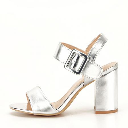 Sandale argintii office/casual Berna [0]